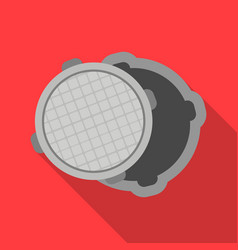 manhole icon in flat style isolated on white vector image