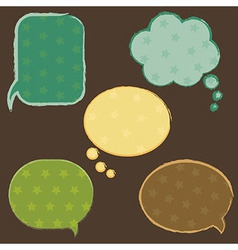 Vintage speech bubbles with stars vector