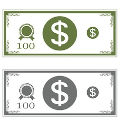 Dollars money vector