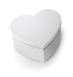 Realistic blank big heart shape box vector