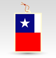 Chilean made in tag vector