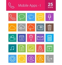 Mobile apps vector