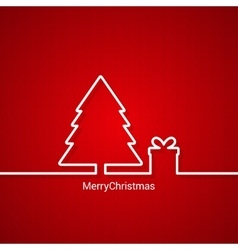 Christmas tree web design red background vector