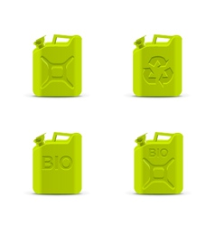 Canisters eco fuel concept vector