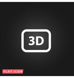 Three-dimensional icon vector