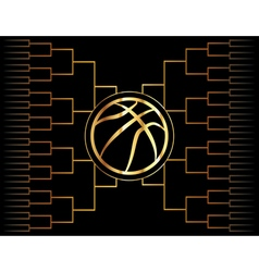 Golden basketball tournament graphic vector