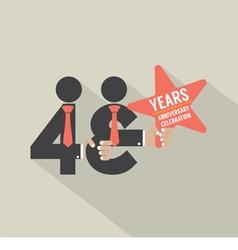 43rd years anniversary typography design vector
