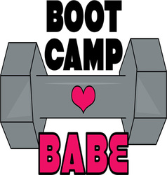Boot camp babe vector