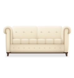 Leather luxury modern vintage living room sofa vector