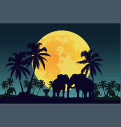 beautiful moon in a hot country vector image vector image