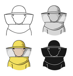 beekeeper icon in cartoon style isolated on white vector image vector image