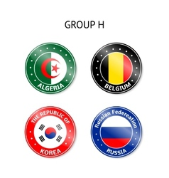 Brazil 2014 group H vector image