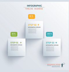 business infographics template 3 steps vector image vector image
