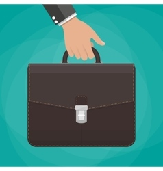 Businessman holding briefcase vector image vector image