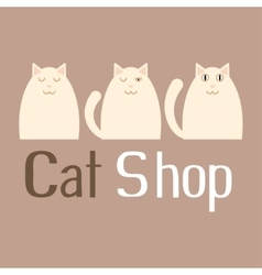 Cat sign for pet shop logo vector image vector image