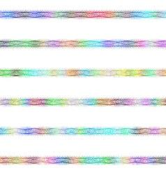 Color fractal text divider line design set vector