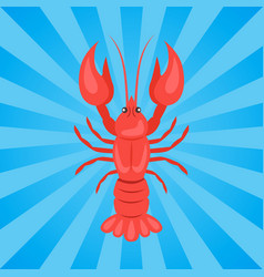 Crawfish or crawdads freshwater lobster yabbies vector