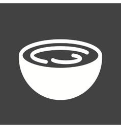 Cream bowl vector