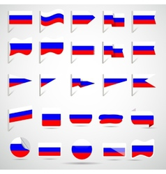 flags of Russian vector image vector image