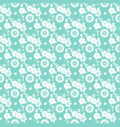 Floral seamless pattern on blue vector