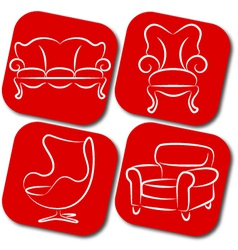 Furniture elements vector