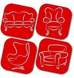 Furniture elements vector