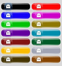 Ghost icon sign set from fourteen multi-colored vector