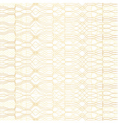 golden geometric pattern on white background vector image vector image