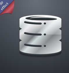 Hard disk icon symbol 3d style trendy modern vector