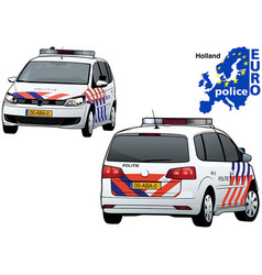 Holland police car vector