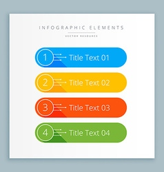 Infographic steps banner in colors vector