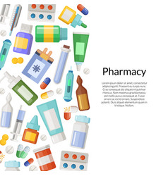 medicines pills and potions background vector image vector image