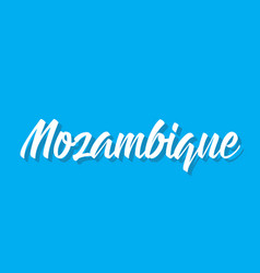 Mozambique text design calligraphy vector