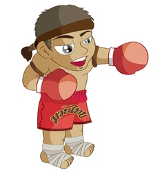 Muaythai cartoon vector
