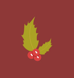 New year rowanberry christmas vector