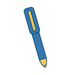 office ballpoint isolated vector image