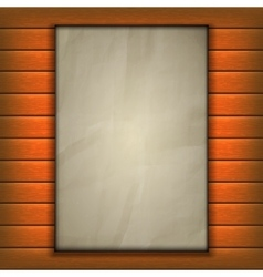 old sheet of paper page on wooden background vector image vector image