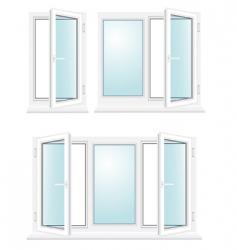 Open plastic glass window illustration vector