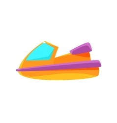 Scooter Toy Boat vector image vector image