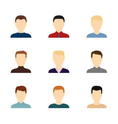 set of avatars of handsome men vector image