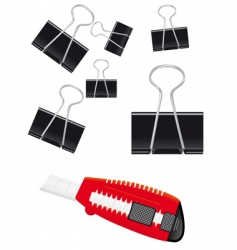 set of stationery vector image vector image