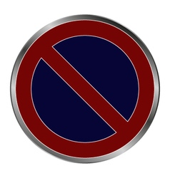 signal no parking vector image