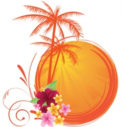 summer sunset vector image vector image