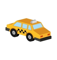 taxi car yellow transport icon vector image