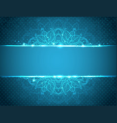 Vintage blue floral background vector