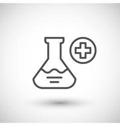 Medical flask icon vector