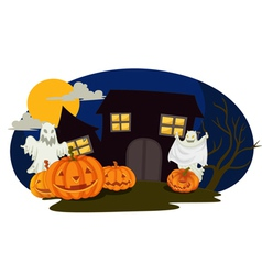 halloween and ghosts vector image