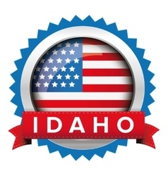 Idaho and usa flag badge vector