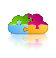 Puzzle Cloud vector image