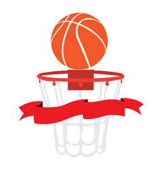 Isolated basketball net vector